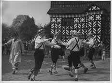 Manchester Morris Men at Little Moreton Hall, 1954