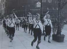 Manchester Morris Men in Albert Square, Manchester, 1955